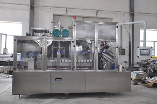 Juice and Milk Gable Top Carton Box Filling Machine